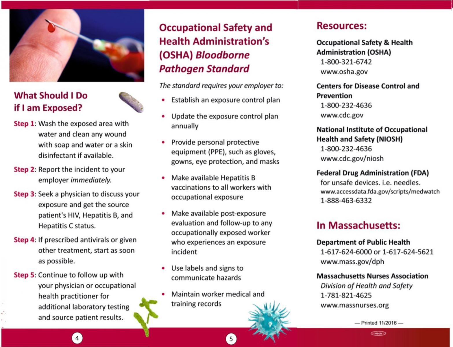 Bloodborne Pathogens - Articles - Health & Safety - Massachusetts Nurses  Association