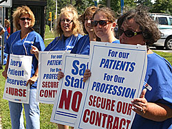 Cooley Dickinson Nurses Picket Hospital - 2011 - News