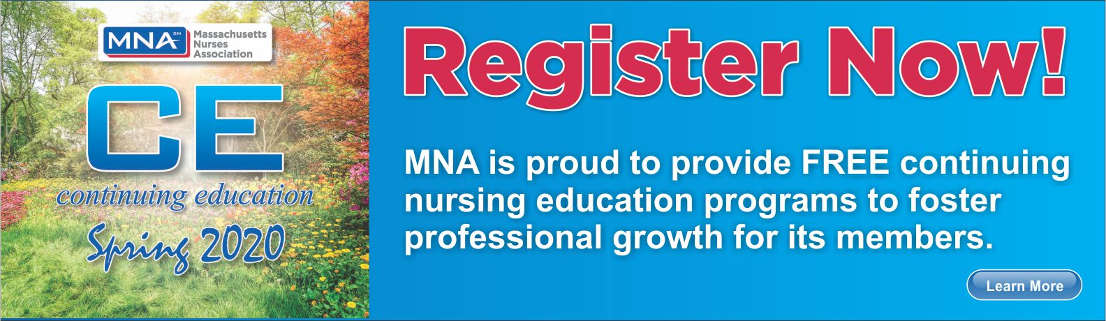 Register for MNA Continuing Education, Spring 2020.
