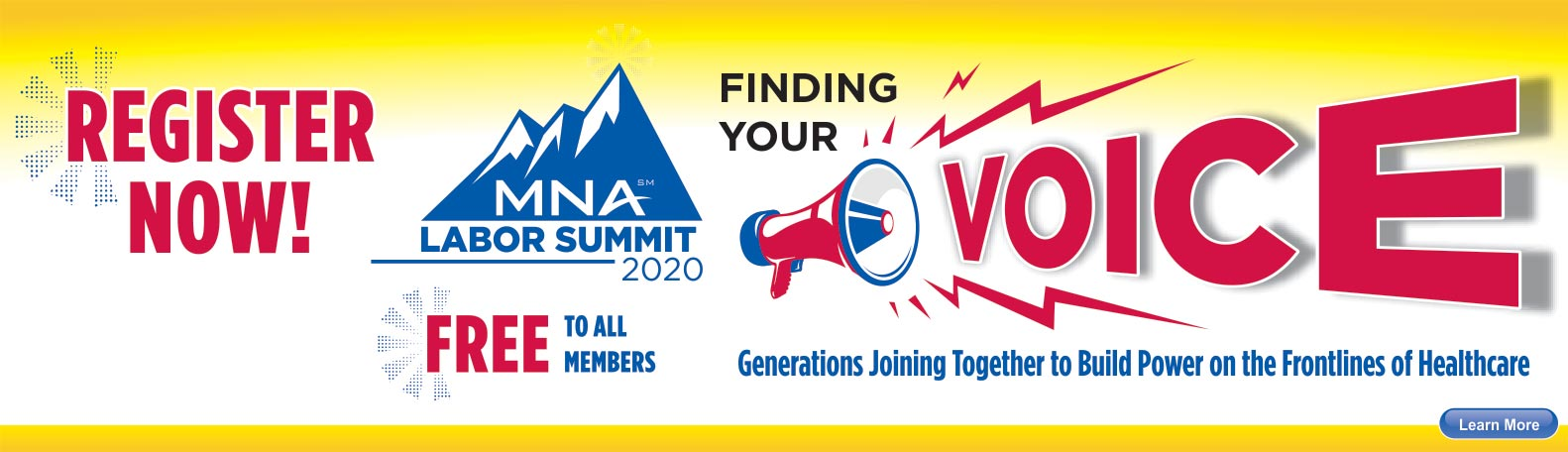 Register for MNA Labor Summit 2020 - Free to all members.