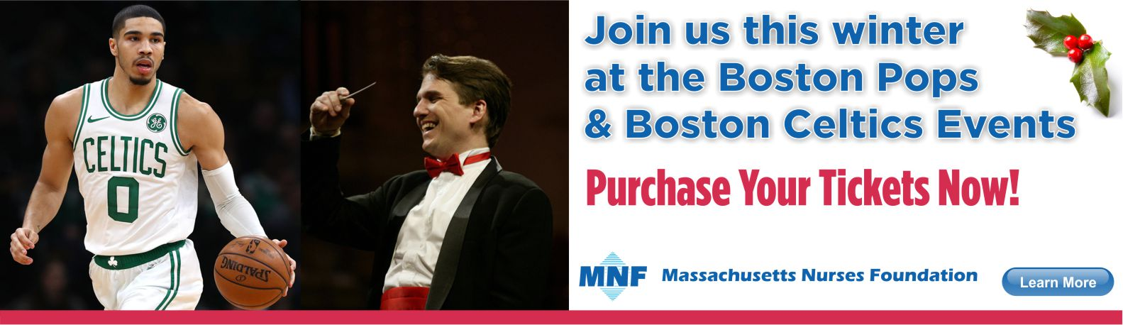 Join us this winter at the Boston Pops and Boston Celtics Events