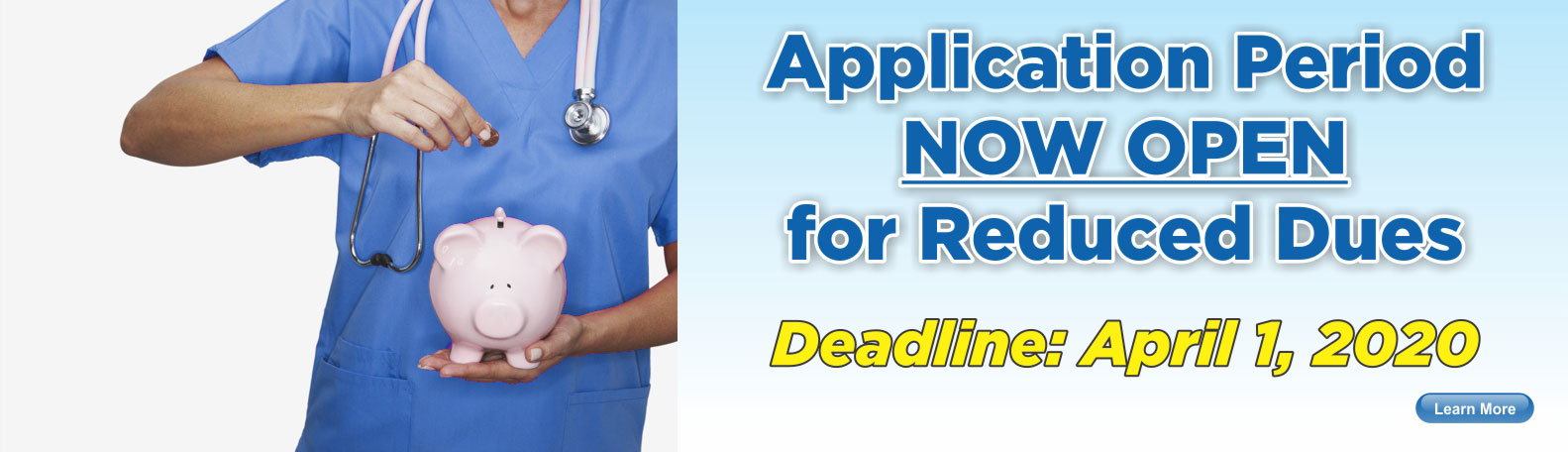 Reduced Dues Application Period Now Open