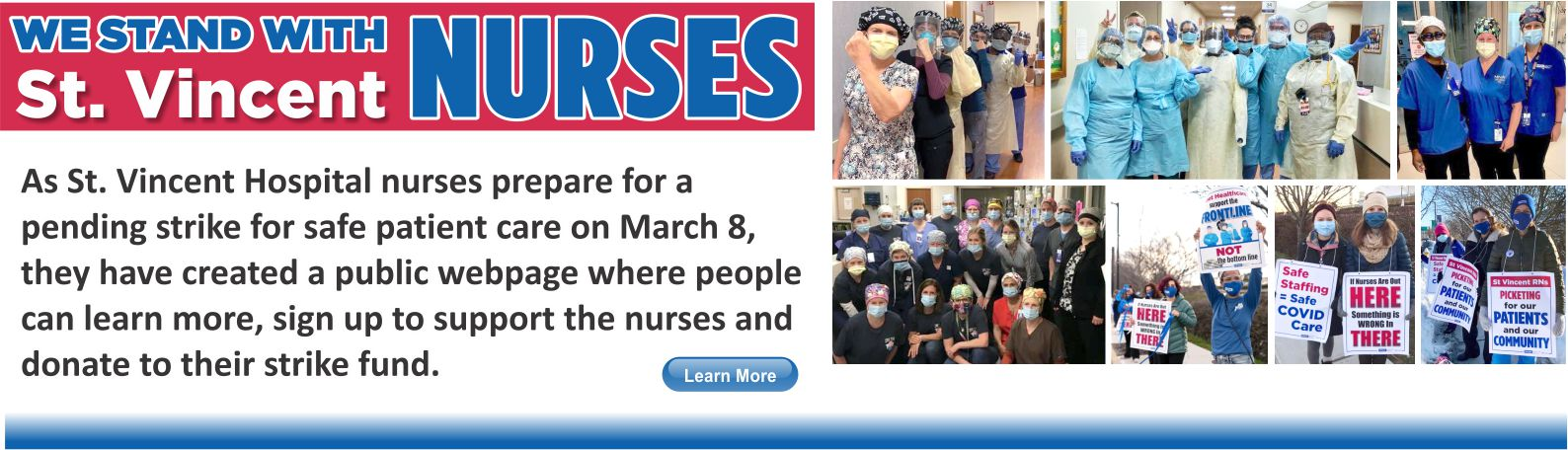 We Stand with St. Vincent Nurses